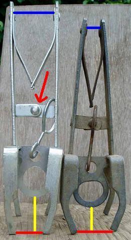 Фотография ловушки-ножниц для кротов.