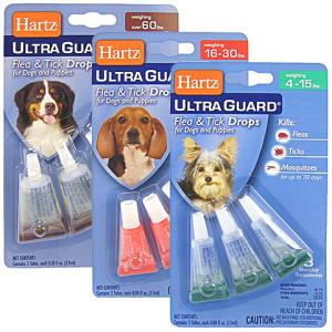 Капли Hartz для собак против блох