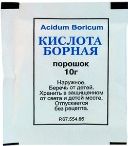 Ловушка с борной кислотой для пищевой моли