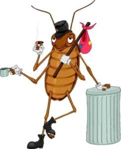 Карикатура на таракана