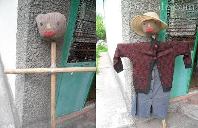 пугало своими руками для сада и огорода фото